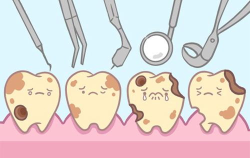 蛀牙等疾病引起的牙齿变色